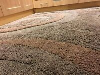 Large Brown Shaggy rug - Dunelm