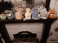 Collection of 7 decorative teapots