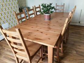 8-10 table and 8 chairs