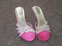 Pink Sling Back Sandals
