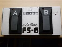 Boss dual switch pedal