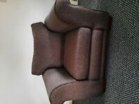 NEXT grey fabric armchair vgc £45