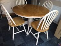 Lovely 5 piece dining table and chairs