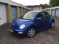 VW Beetle In Raven Blue with Alloys