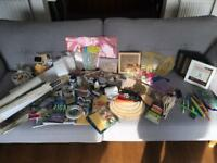 Huge Crafting Job Lot - Tim Holtz Stencils, Spray Paint, Pyrography kit, Scrabble Letters, Stamps