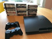 Play Station 3 Slim (120GB)+2 controllers+37 fantastic games - £120