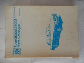 Rover 3500-3500S P6B Parts Catalogue (RTC9022A)