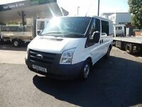 FORD TRANSIT 2009 09 PLATE 104K MILES BRAND NEW MOT CREW VAN 6 SEATER £5250 PLUS VAT