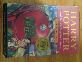 Rare first edition Harry Potter and the philosophers stone