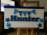Personalised children toy boxes