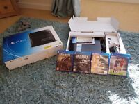 Ps4 & 4 games still with box great kids presant