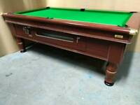 7x4 Pub Pool Table. Slate Bed. Coin Operated. New Recover & Accessories. Free Local Delivery