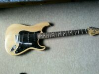 custom fender stratocaster in mint condition.