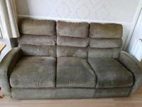 3 seater sofa and recliner chair