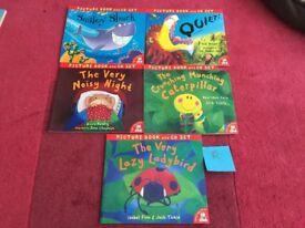 Children's Picture Books & CDs Set of 5