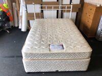"Myers 4ft 6"" Divan bed and mattress"