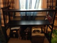 Turntable DJ Stand two shelves heavy duty excellent cond RRP £80! CDJ Mixer table desk portable
