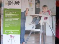 Mamas and Papas 2 in 1 highchair/toddler chair