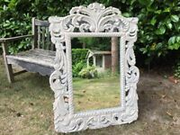 Hand Painted Ornate Shabby Chic Mirror