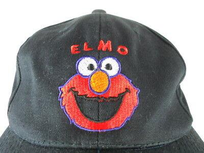 - Adjustable Snapback Ball Cap Hat - Black (Ball Elmo)