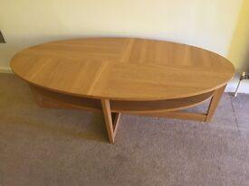 IKEA Vejmon oval coffee table