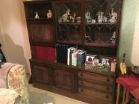 Various wooden furniture all for sale - bookcase, bureau, umbrella stand etc