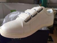 White Velcro Fastening Trainers