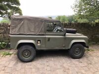 For Sale ex Military Bomb Squad Landrover 90 Soft Top