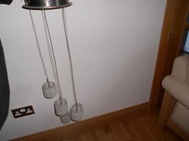 Serena 5 light pendant with chrome and wire cost £100 accept £45