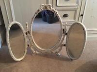 Dressing table mirror shabby chic