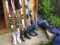 Skis, Boots, Poles and accessories .