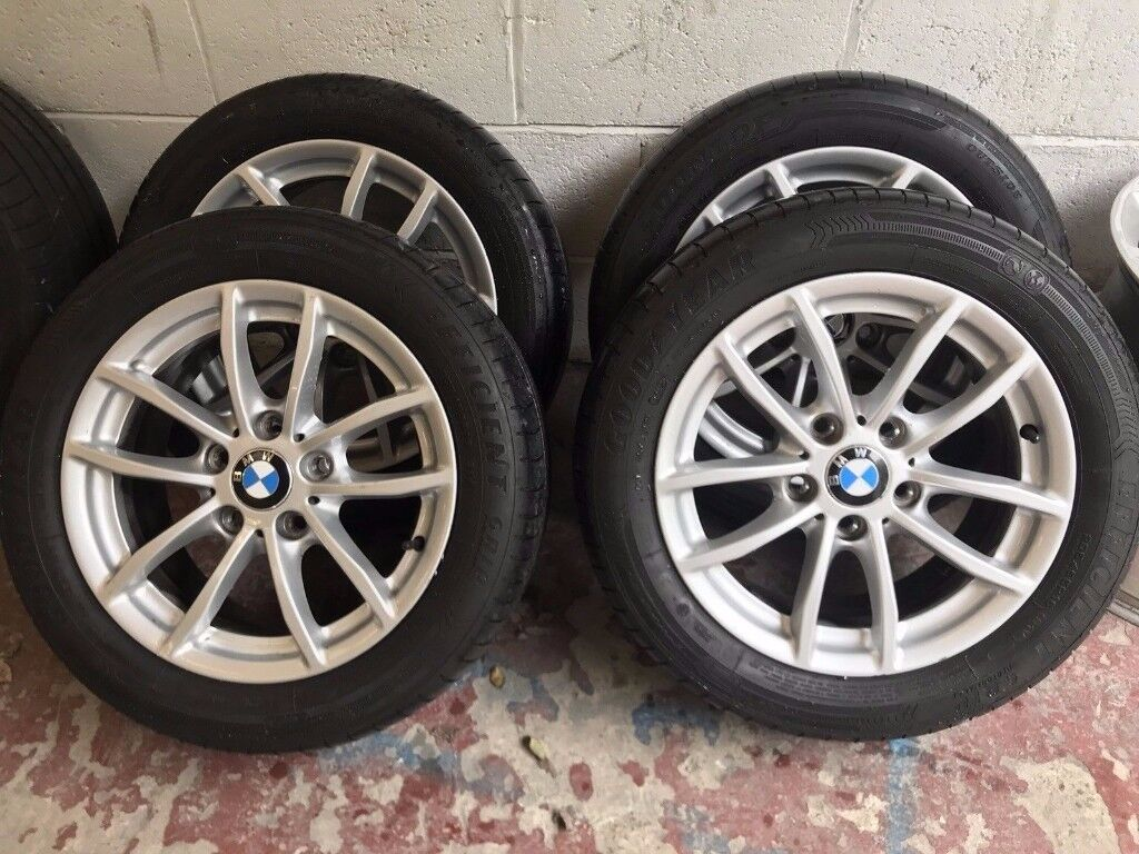 """BMW 1 Series F20 2011-2015 SET OF MINT ALLOY WHEELS & TYRES + 16"""" Perfect Tyres Michellin"""