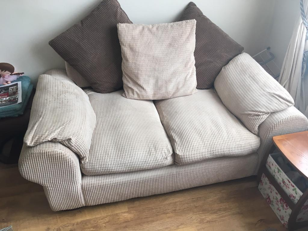 X2 identical two seater sofas