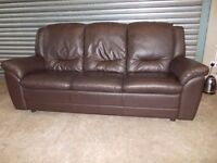 Brown Leather 3-1-1 Suite (Chairs are Recliners)