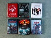 Set of six action packed DVDs