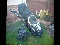 Hillbilly Electric Golf Trolley and Golf Bag