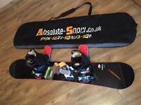 Snowboard+bindings& boots& bag