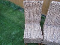 Selling 4 natural wicker in perfect quality