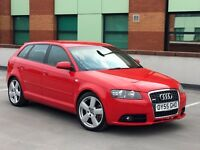 Audi A3 3.2 Quattro sportback rare S Line model With 6 Speed Manual, Face lift. not Vw Golf r32
