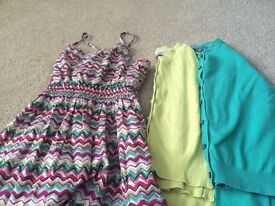 Girls summer dress with 2 cardigans - size 9-10