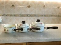 A Set of 3 Saucepans