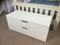 Ikea nordii white 2 drawer chest
