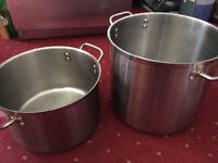 2 x Genware Kitchen Pans