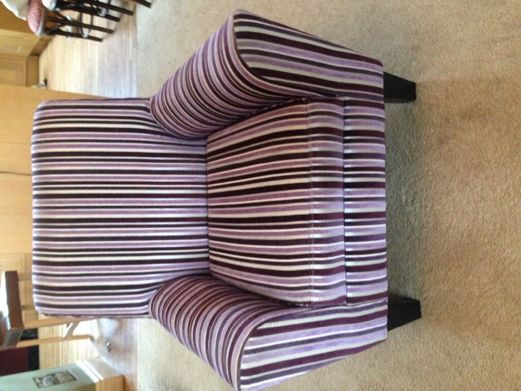 Next Purple Striped Chair In Cardiff Gumtree