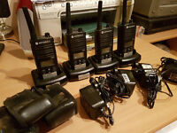 4 x Motorola XTNiD walkie talkies
