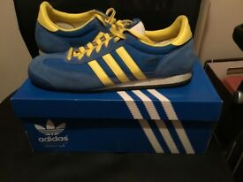 Adidas Dragon Stolkholm Trainers, size 9.5, worn 2-3 times, c/w origianl box, rrp £55, sell £25