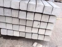 Twin hole concrete fence posts 8ft