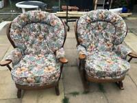 wingback chairs...