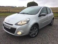 RENAULT CLIO DYNAMIQUE TOM TOM 1.5 DIESEL DCe 5 DOOR 2011 LOW MILES 58K FSH BY MAIN DEALER LONG MOT
