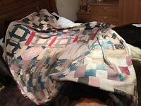 "Vintage American Patchwork Quilt. Dated 1919-1922. 85""x94"""